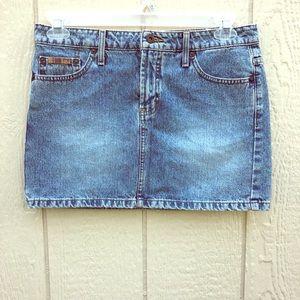 VTG lei denim mini skirt size 9
